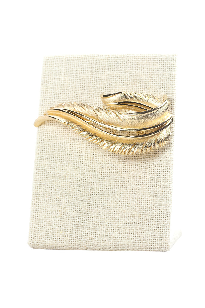 50's__Vintage__Feather Swirl Brooch