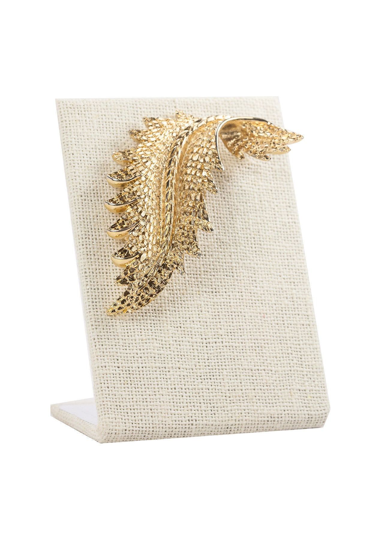70's__Monet__Feather Brooch