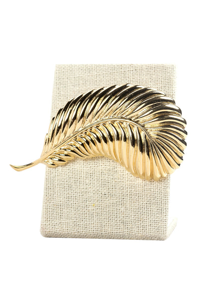 70's__Vintage__Statement Feather Brooch