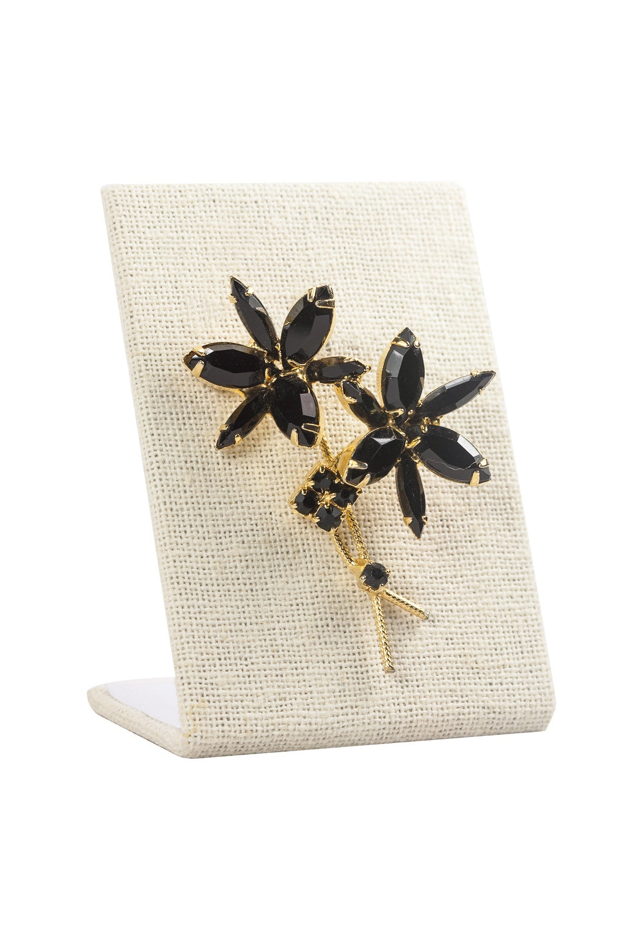 60's__Vintage__Black Bunches Brooch