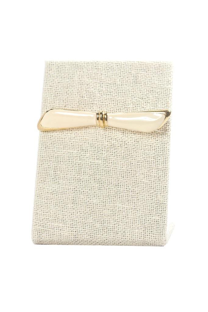 80's__Monet__Cream Bar Brooch