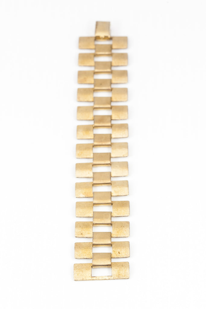 70's__Sarah Coventry__Wide Open Link Bracelet