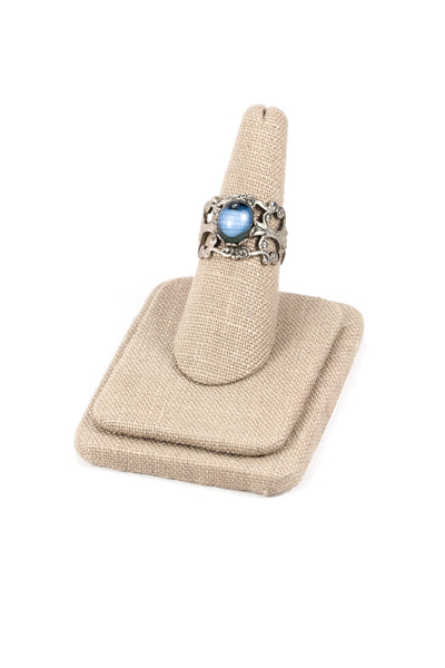 60's__Vintage__Antique Blue Stone Ring