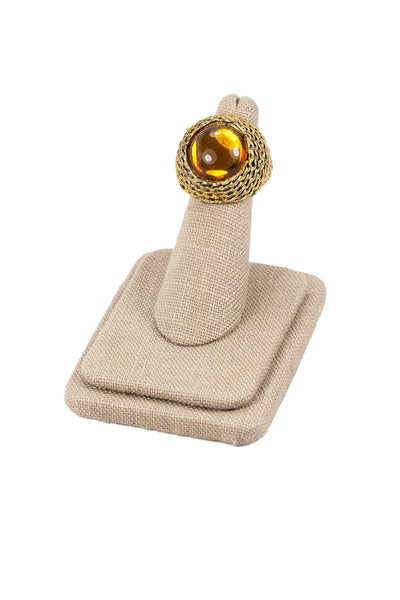60's__Vintage__Adjustable Topaz Statement Ring