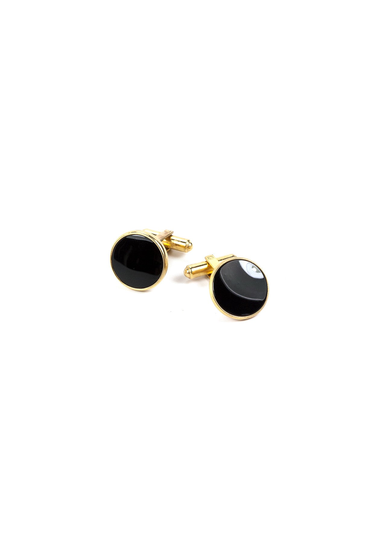 70's__Vintage__Onyx Cuff Links