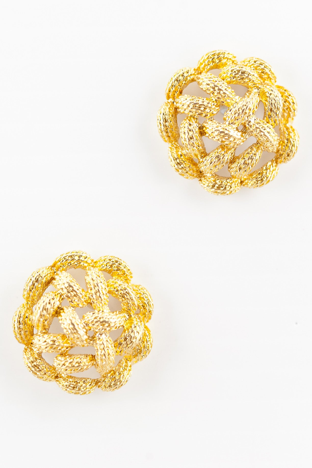 80's__Monet__Woven Knot Earrings