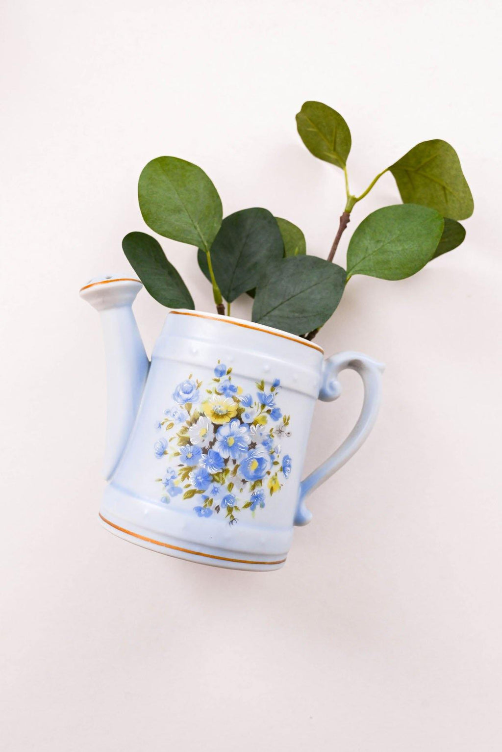 Blue Watering Can Vase