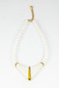 60's__Monet__White Statement V Necklace