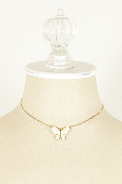 70's__Monet__Dainty Butterfly Necklace