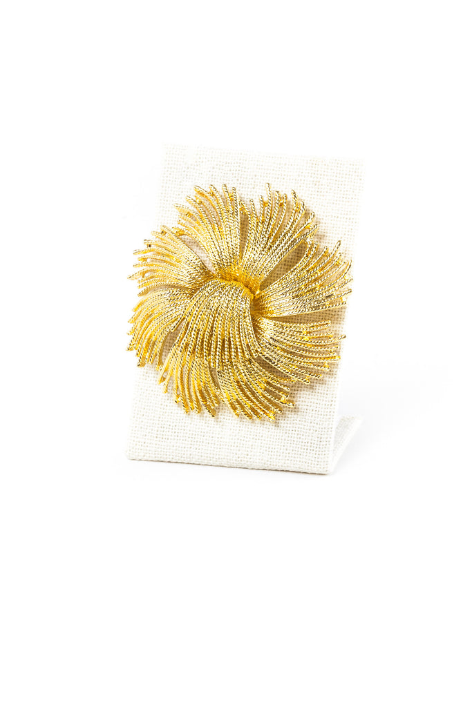 70's__Monet__Classic Flower Burst Brooch