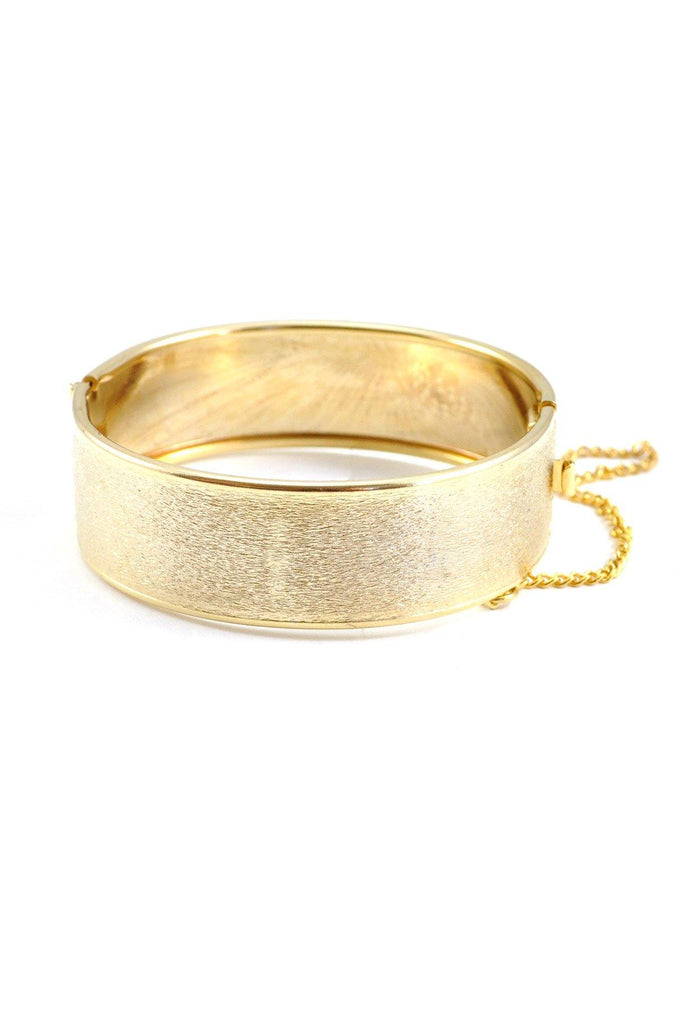 70's__Whiting Davis__Etched Gold Bangle