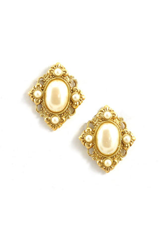 70s__Vintage__Pearl Pierced Earrings