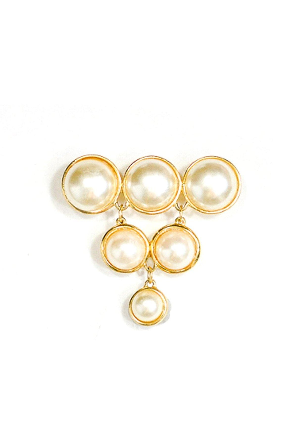 80's Vintage Statement Pearl Drop Brooch