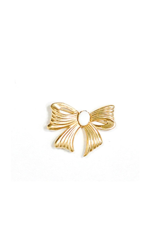 50's__Vintage__Gold Bow Brooch
