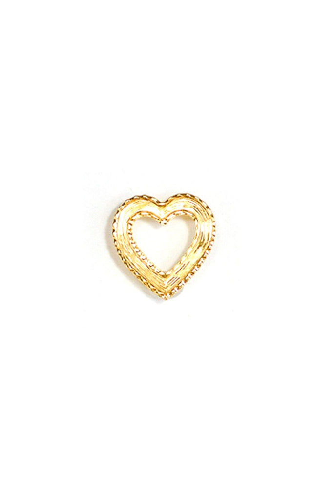 80's__Vintage__Textured Heart Brooch