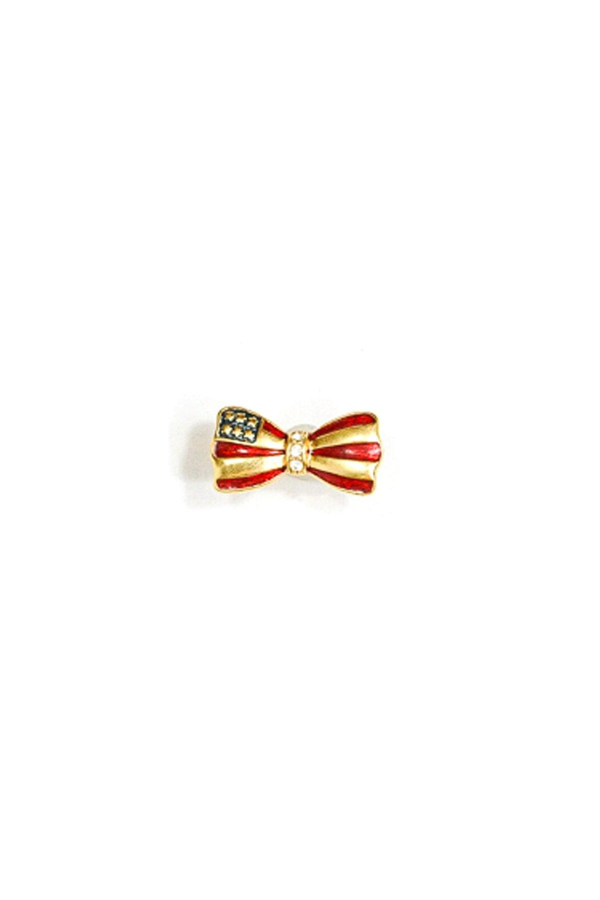 80's Vintage Mini American Flag Bow Pin