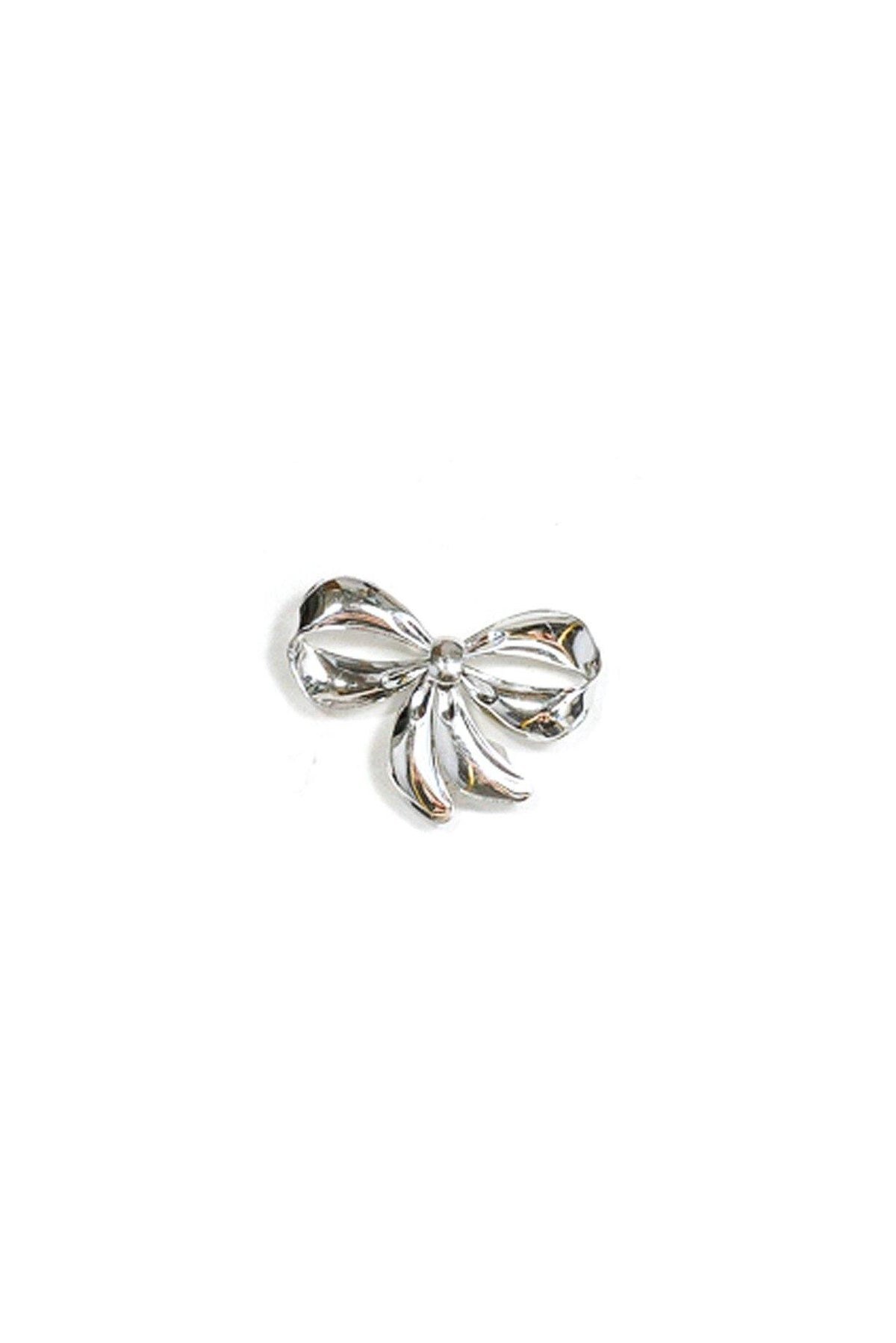 50's Vintage Sterling Silver Bow Brooch