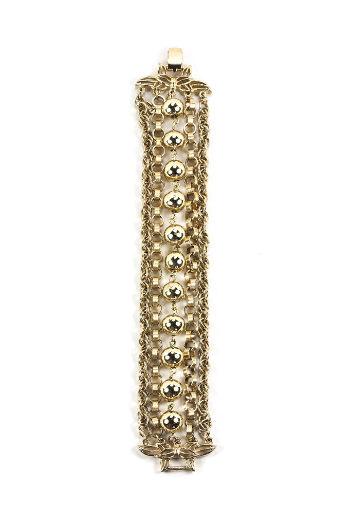 60's__Vintage__Multi Chain Ball Bracelet