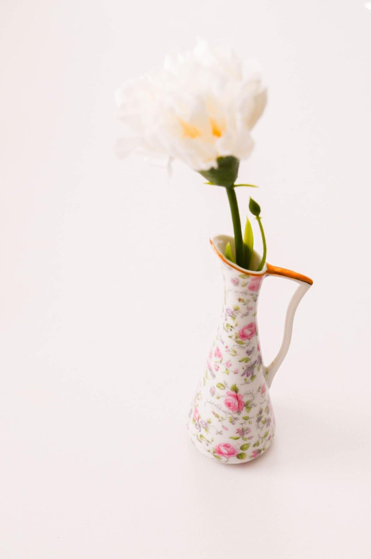Vintage Dainty Floral Pitcher Vase from Sweet and Spark.