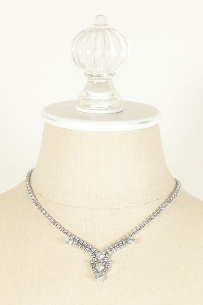 60's__Kramer__Rhinestone Drop Necklace