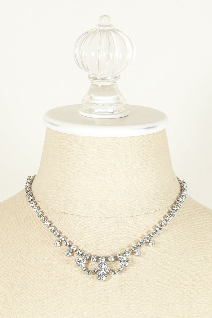 60's__Vintage__Rhinestone Collar Necklace
