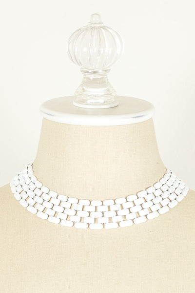 70's__Napier__White Chain Necklace