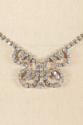 50's__Smart Et__Rhinestone Butterfly Necklace