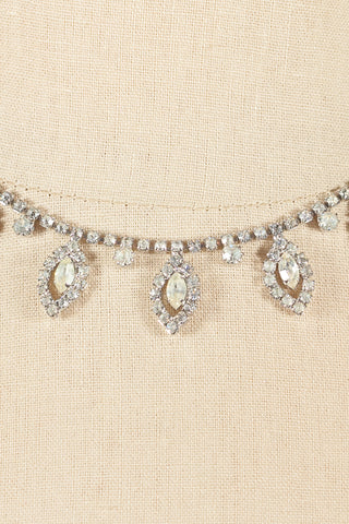 50's__Weiss__Rhinestone Drop Necklace