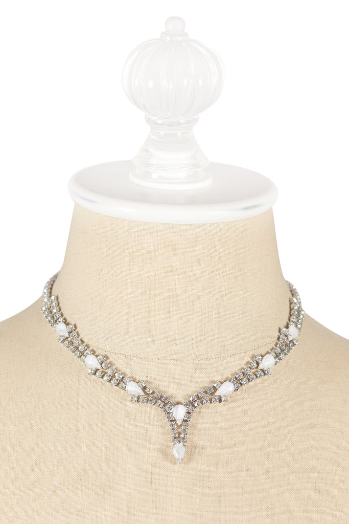 60's__Vintage__Rhinestone Drop Necklace