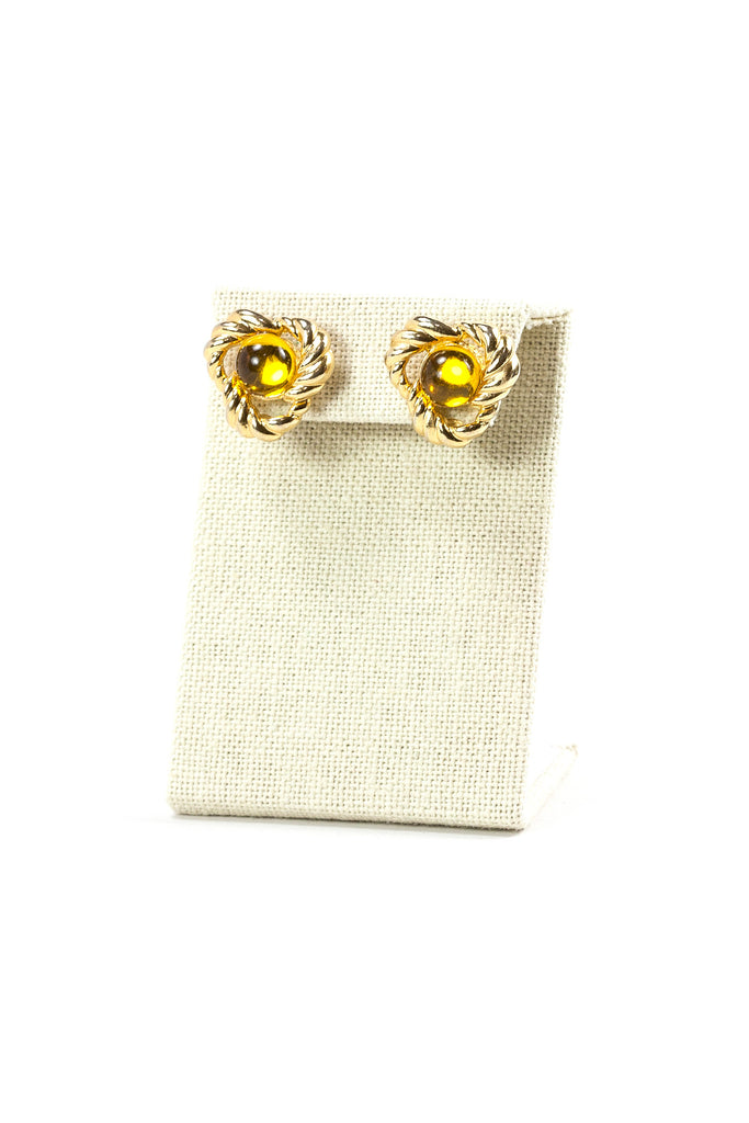 70's__Two Sisters__Amber Earrings