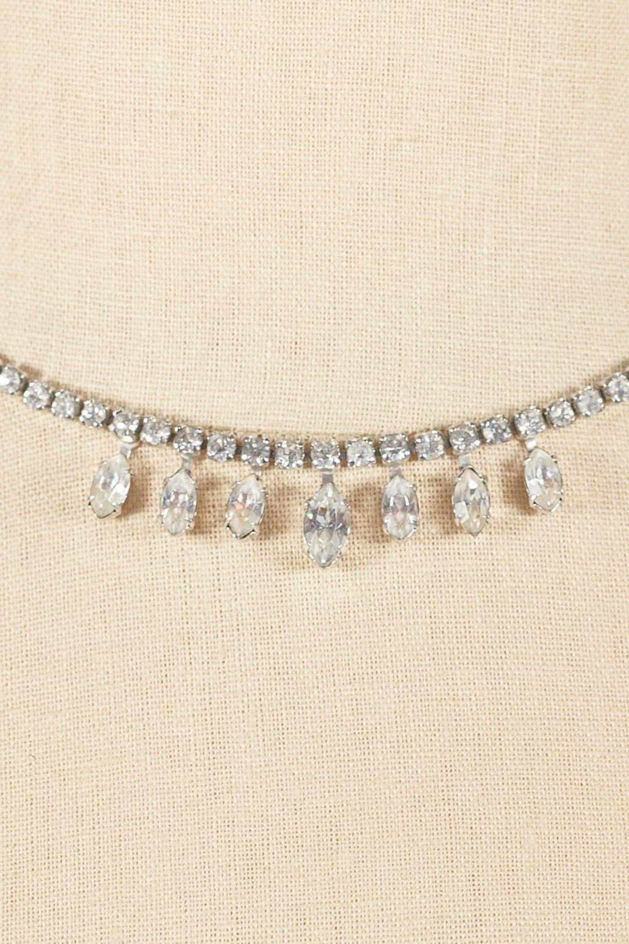 50's__Kramer__Simple Rhinestone Necklace