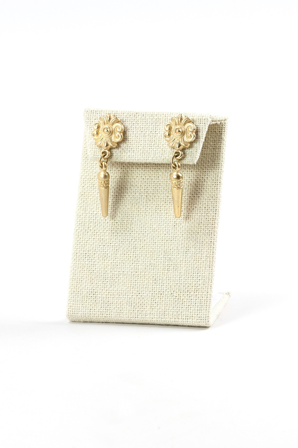 70's__Classiques Entier__ Gold Spear Drop Earrings