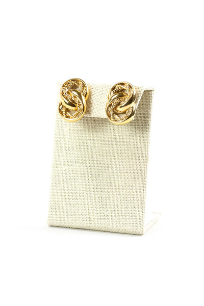 70's__Napier__Gold Rope Link Earrings