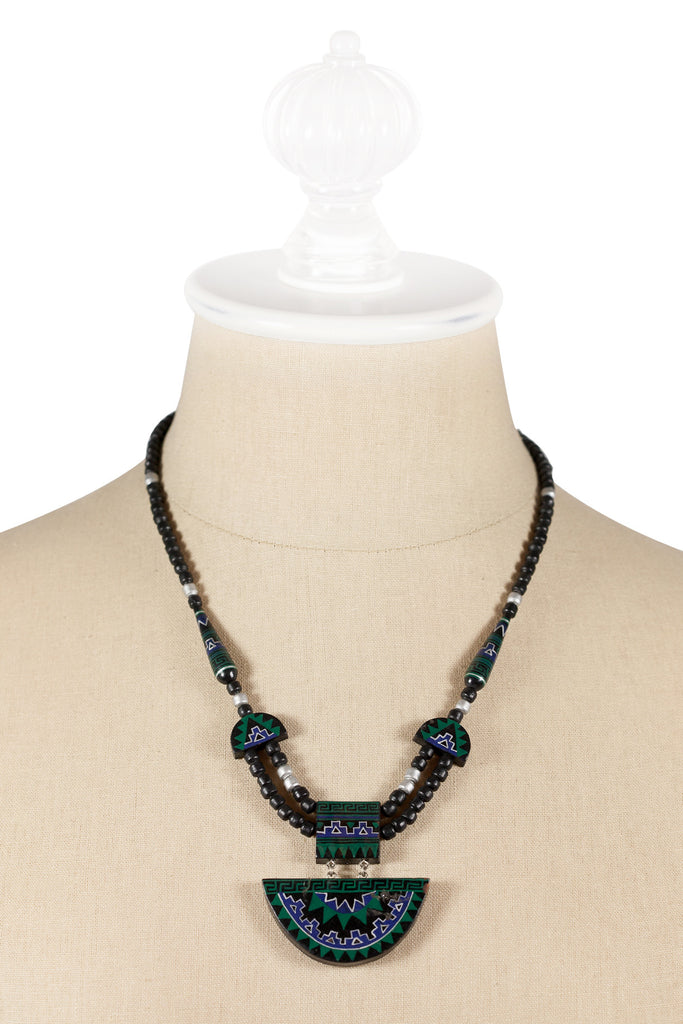 70's__Vintage__Beaded Tribal Necklace