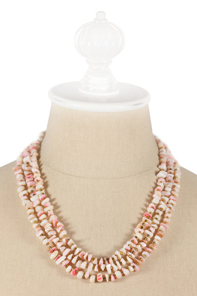 50's__Vintage__Light Pink and Gold Necklace