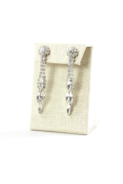 60's__Weiss__Rhinestone Drop Earrings