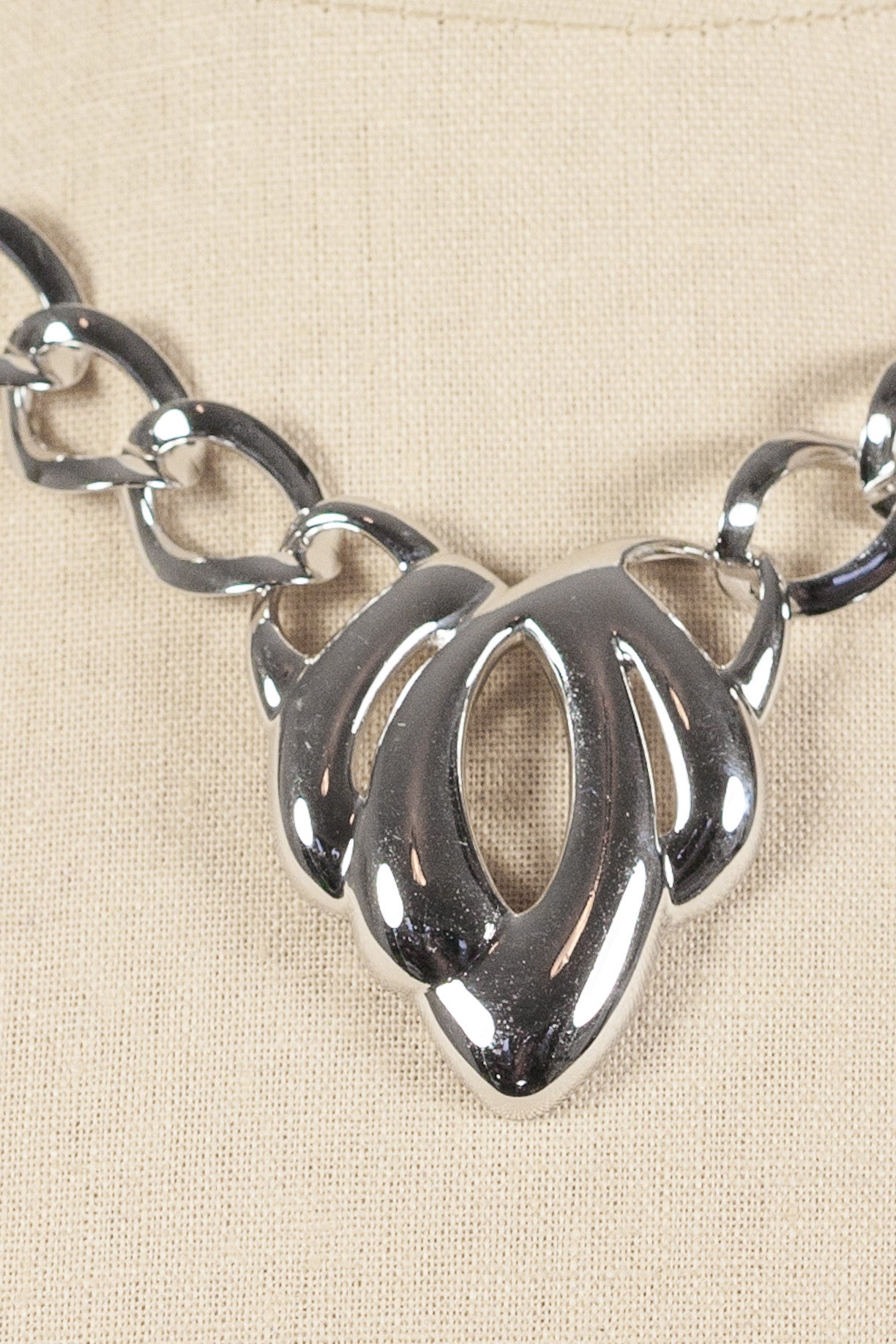 90's__Napier__Silver Link Necklace