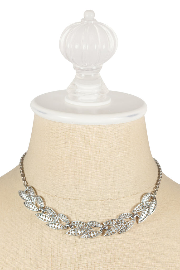 50's__Vintage__Silver Link Necklace