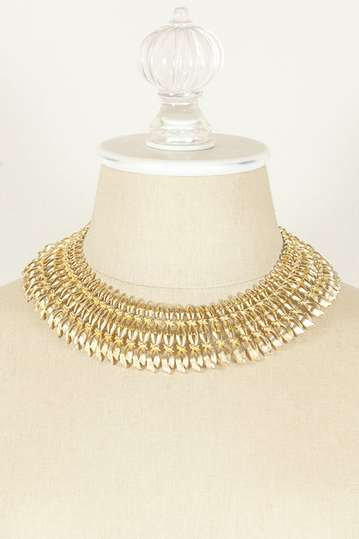 70's__Vintage__Gold Statement Collar Necklace