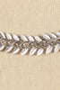 50's__Trifari__Silver Leaf Necklace