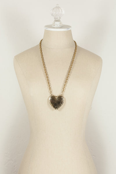 80's__Vintage__Heart Pendant Necklace
