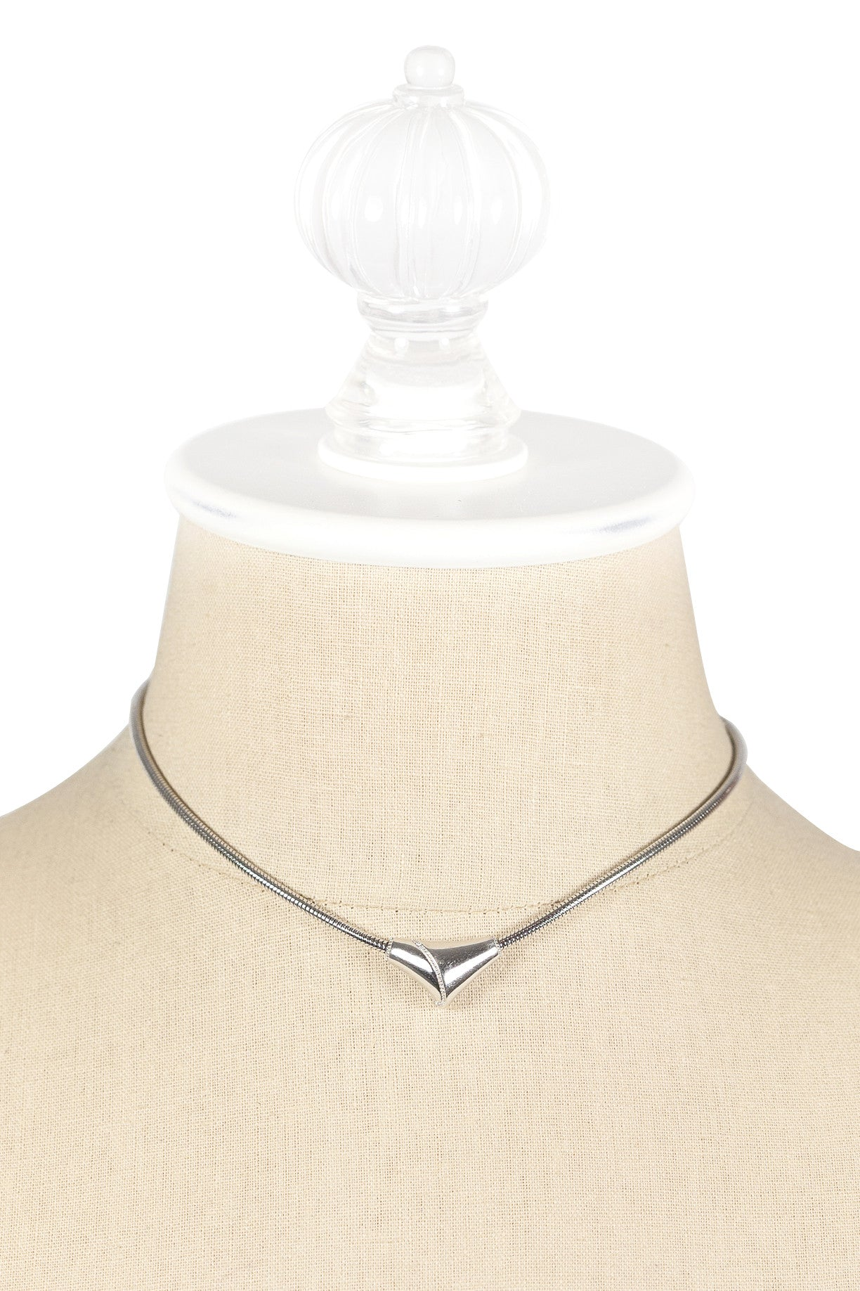 80's__Monet__Silver Triangle Necklace