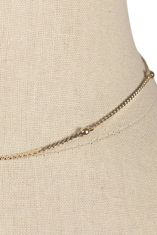 80's__Monet__Dainty Ball Necklace
