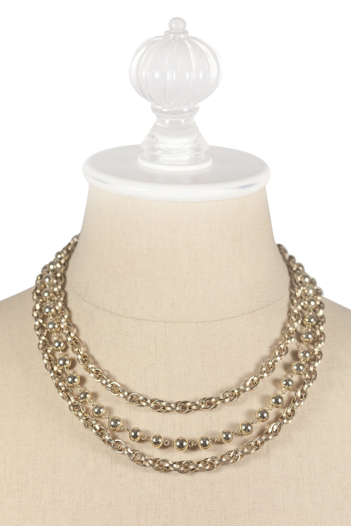 60's__Marvella__Chunky Ball Necklace