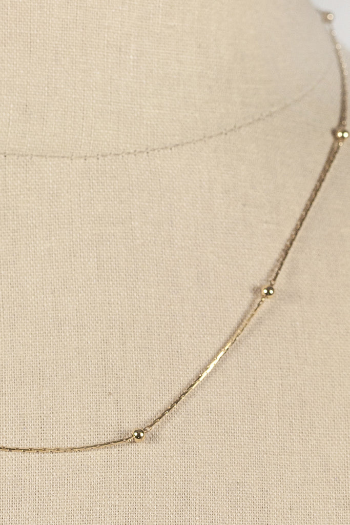 70's__Monet__Dainty Ball Necklace