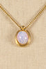 70's__Vintage__Opal Pendant Necklace