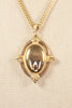 70's__Monet__Shield Pendant Necklace