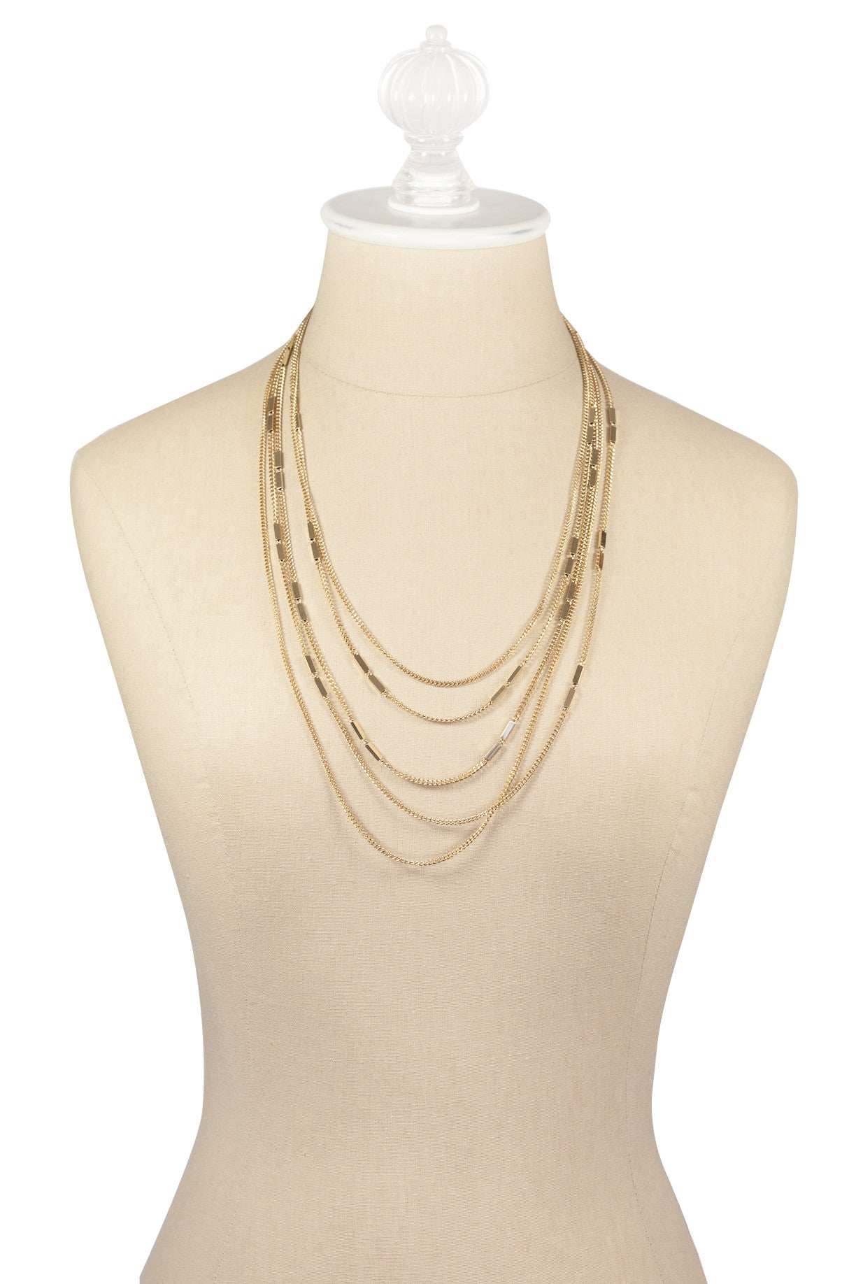 70's__Monet__Dainty Multi Chain Necklace
