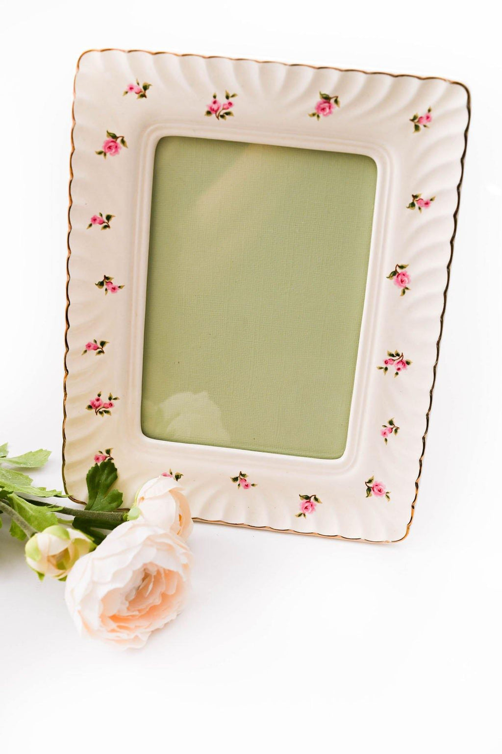Textured Floral Rectangular Frame
