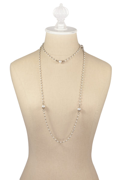 50's__Sarah Coventry__Long Pearl Necklace
